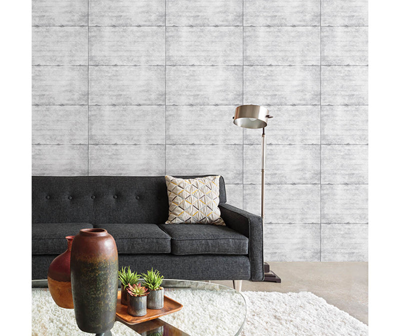 Smooth Concrete Grey Geometric Wallpaper available at Barrydowne Paint