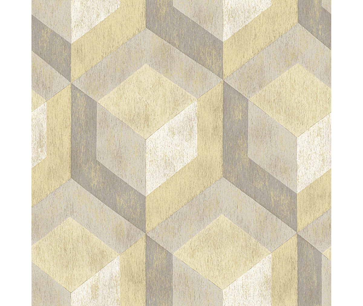Rustic Wood Tile Honey Geometric Wallpaper available at Barrydowne Paint