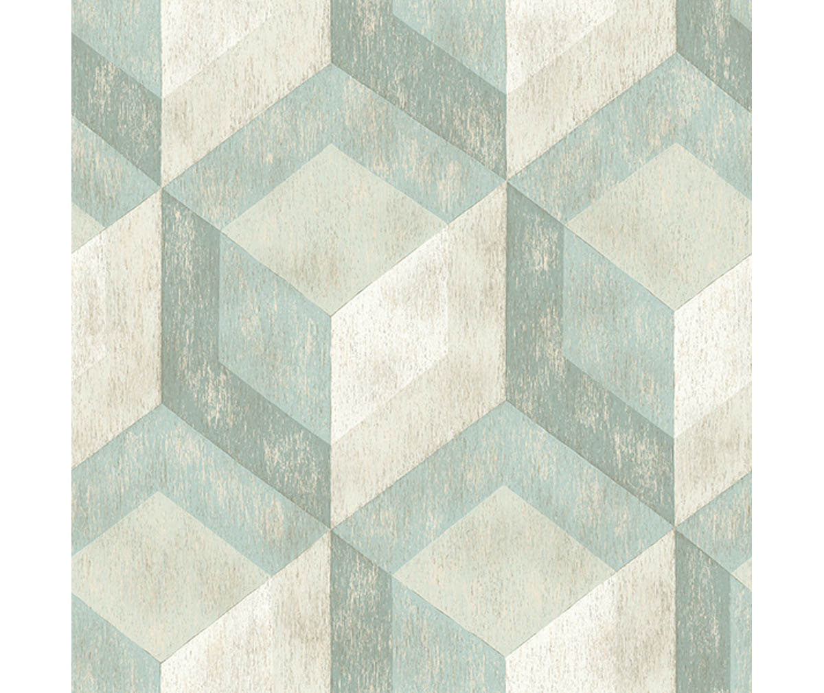 Rustic Wood Tile Green Geometric Wallpaper available at Barrydowne Paint