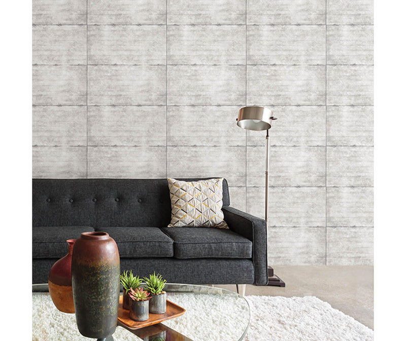 Smooth Concrete Light Grey Geometric Wallpaper available at Barrydowne Paint