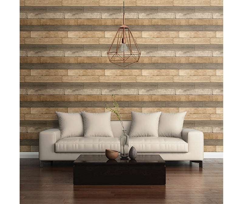Weathered Plank Wheat Wood Texture Wallpaper available at Barrydowne Paint