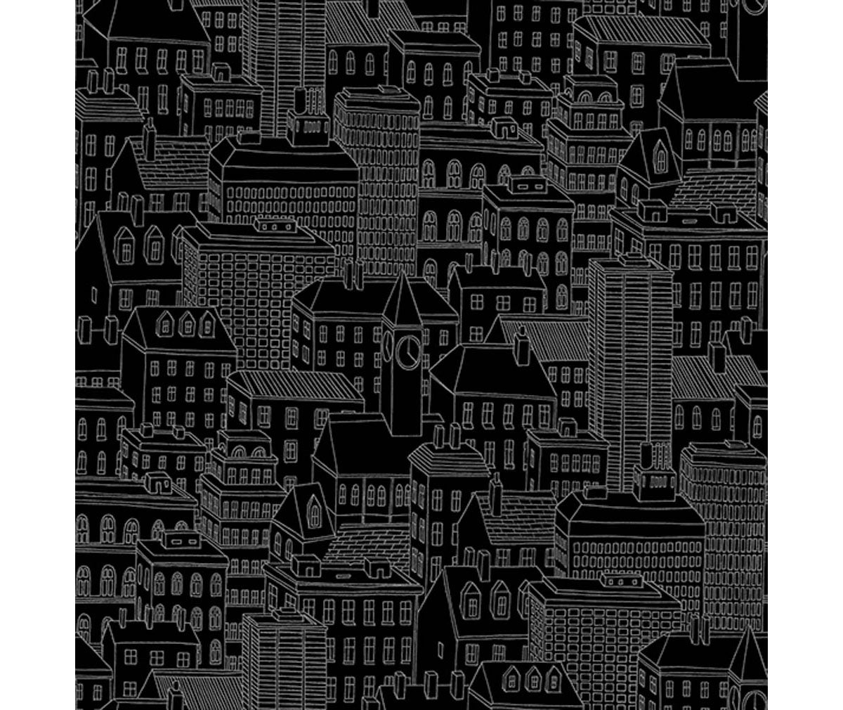 Limelight Black City Wallpaper available at Barrydowne Paint