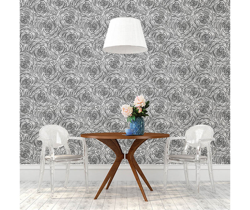 Celestial Black Floral Wallpaper available at Barrydowne Paint