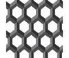 Hex Black Geometric Wallpaper available at Barrydowne Paint