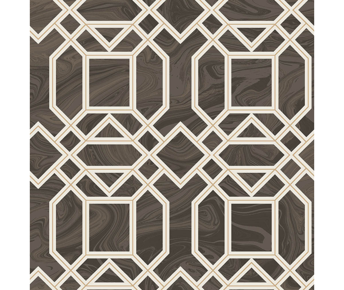 Daphne Brown Trellis Wallpaper available at Barrydowne Paint