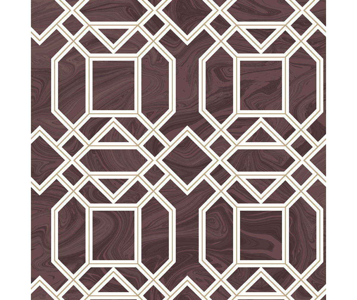 Daphne Maroon Trellis Wallpaper available at Barrydowne Paint