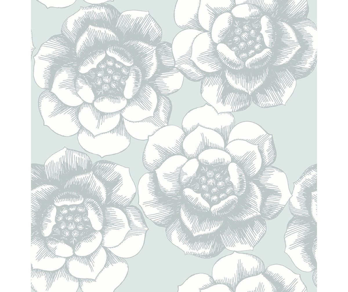 Fanciful Silver Floral Wallpaper Barrydowne Paint