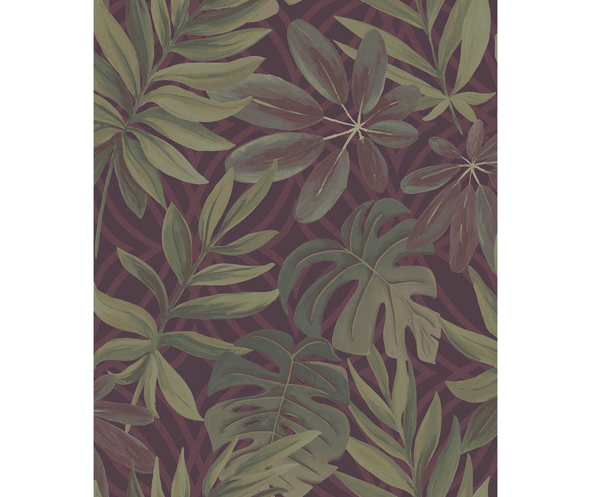 Nocturnum Maroon Leaf Wallpaper available at Barrydowne Paint