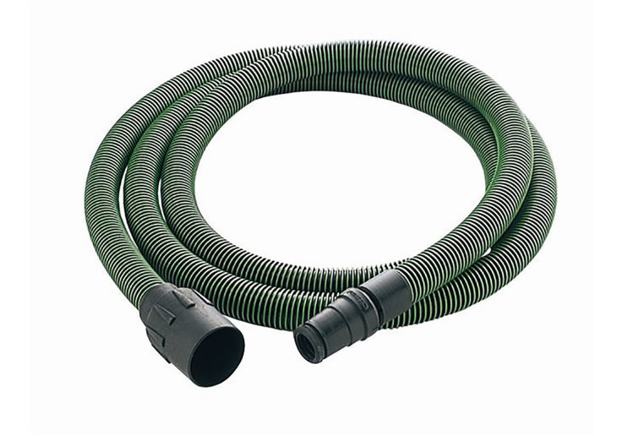 Anti-Static Hose, Tapered D32/27 with Angle Adapter, 3.5 m Long