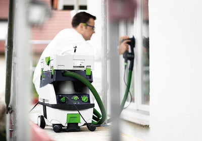 Festool CT MINI 1200W 10L 130CFM Dust Extractor in use available at Barrydowne Paint