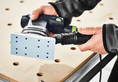Festool Granat Abrasive Pad For RTS 400 / LS 130 Sanders in use available at Barrydowne Paint