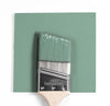Benjamin Moore Colour HC-132 Harrisburg Green wet, dry colour sample.
