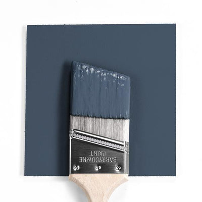 Benjamin Moore Colour HC-155 Newburyport Blue wet, dry colour sample.