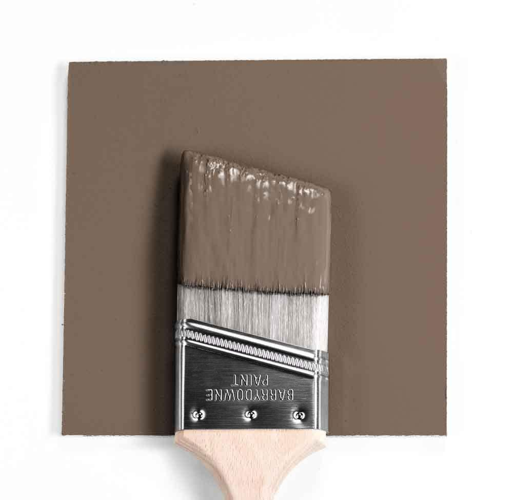 Benjamin Moore Colour HC-69 Whitetall Brown wet, dry colour sample.