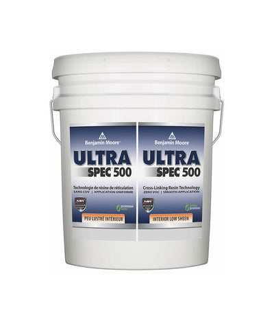 Benjamin Moore Ultra Spec 500 Interior Semi-Gloss Pail  available at Barrydowne Paint in Sudbury.