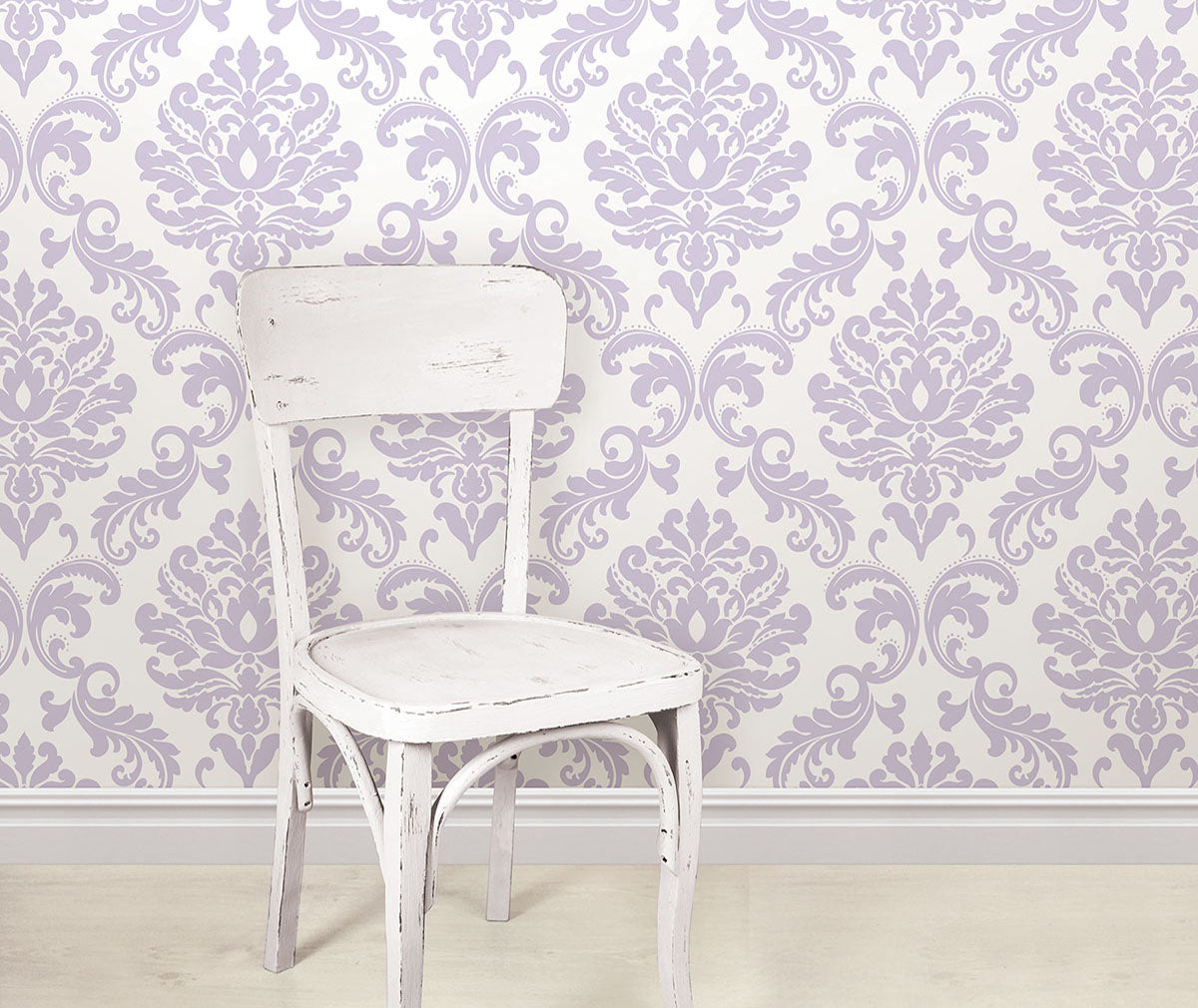 Purple Damask Peel Stick Wallpaper From Barrydowne Paint