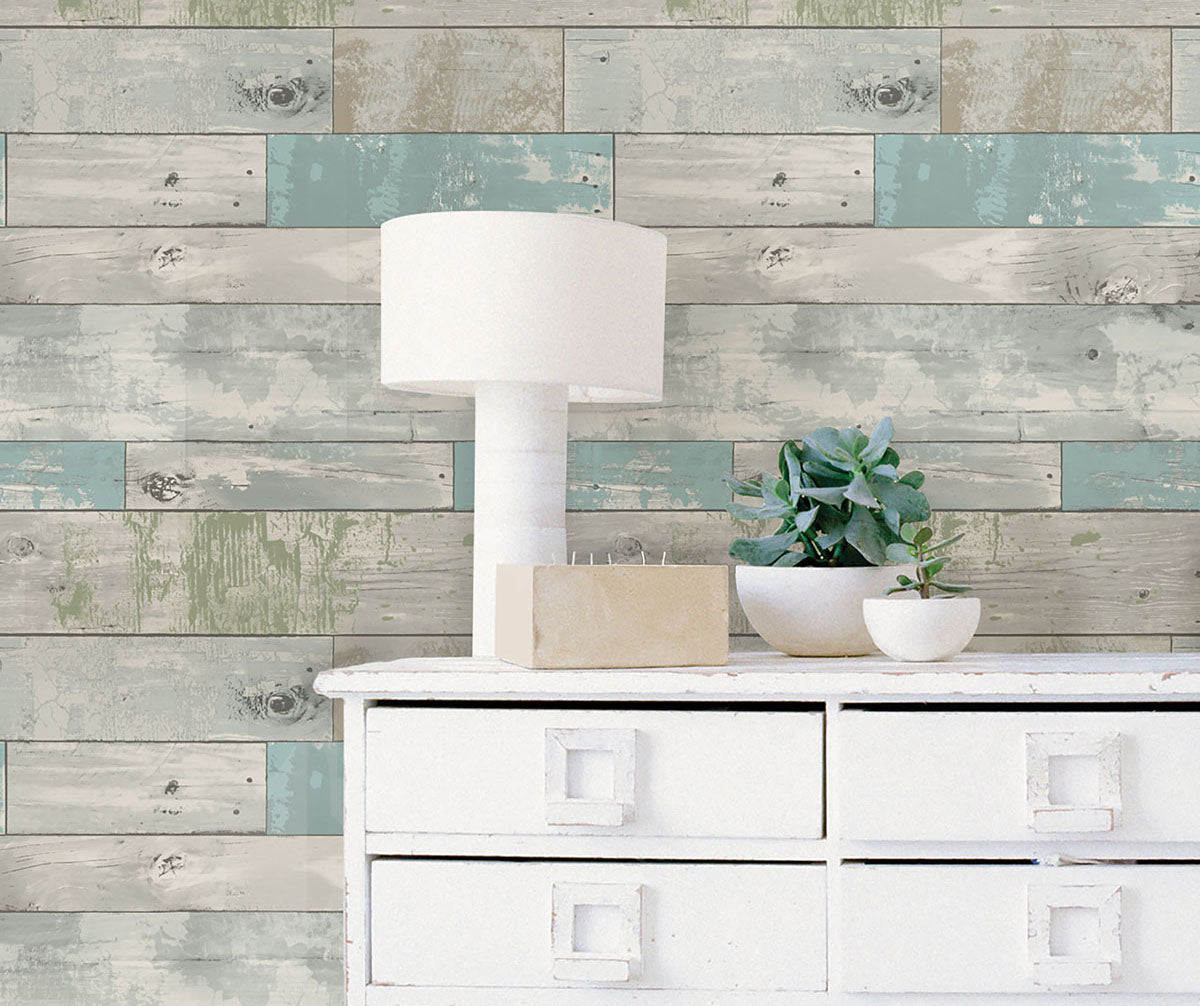 Beachwood wallpaper from peel & stick NuWallpaper available at Barrydowne Paint.