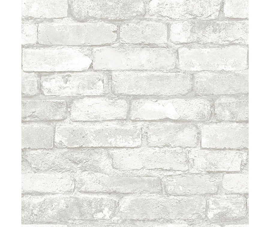 Grey and White Brick Peel & Stick Paper