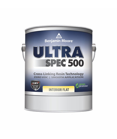 Benjamin Moore Ultra Spec 500 Interior Flat Gallon  available at Barrydowne Paint in Sudbury.