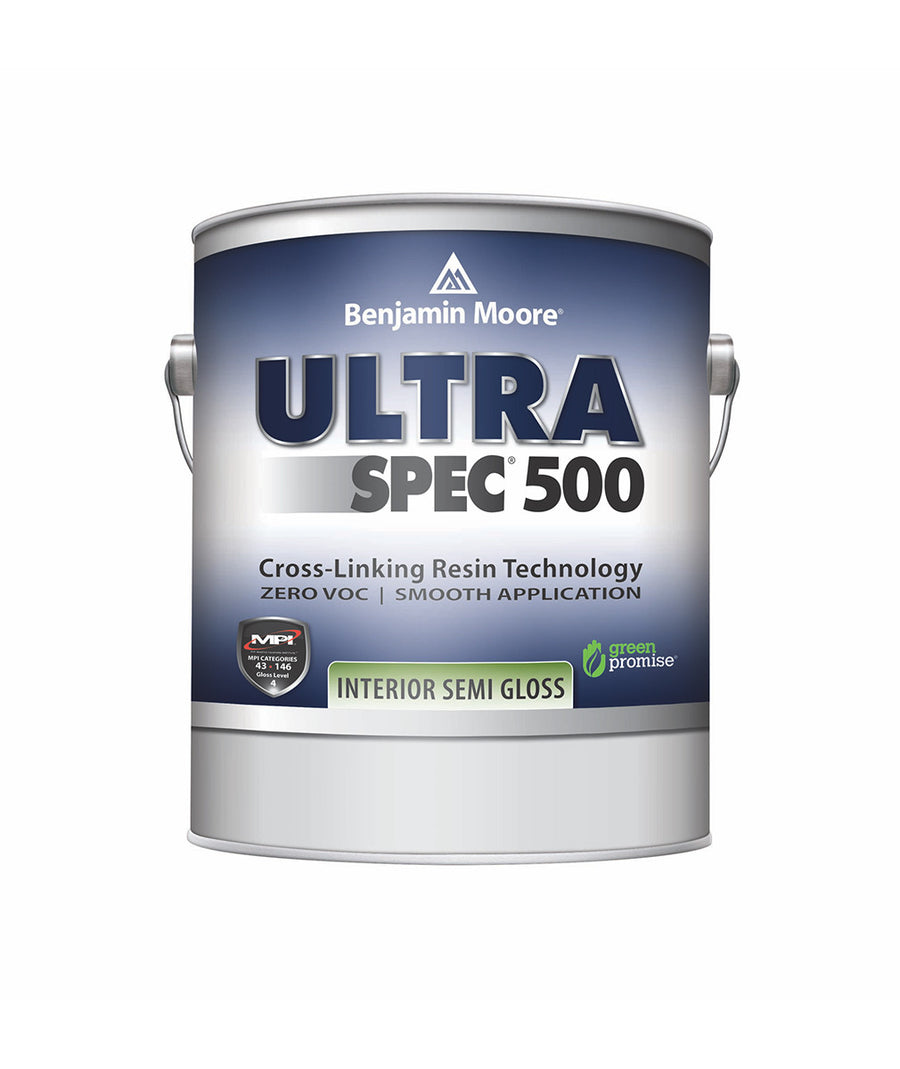Benjamin Moore Ultra Spec 500 Interior Eggshell Gallon available at Barrydowne Paint in Sudbury.