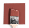 Benjamin Moore Colour CC-122 Boxcar Red wet, dry colour sample.
