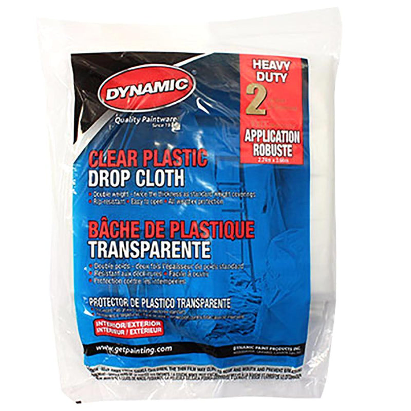 Dynamic's Clear Plastic Drop Cloth