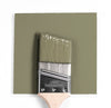 Benjamin Moore Colour HC-110 Weatherfield Moss wet, dry colour sample.