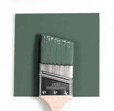 Benjamin Moore Colour HC-124 Caldwell green wet, dry colour sample.