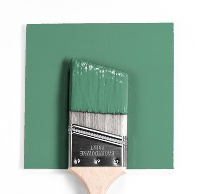 Benjamin Moore Colour HC-128 Clearspring Green wet, dry colour sample.