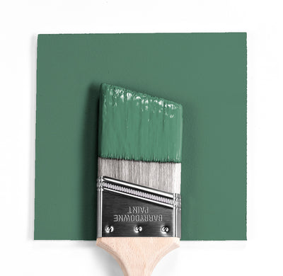 Benjamin Moore Colour HC-130 Webster Green wet, dry colour sample.