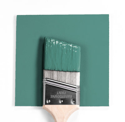 Benjamin Moore Colour HC-136 Waterbury Green wet, dry colour sample.