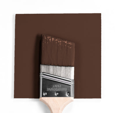 Benjamin Moore Colour HC-185 Tudor Brown wet, dry colour sample.