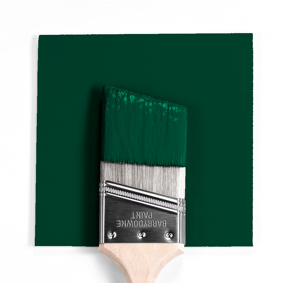 Benjamin Moore Colour HC-189 Chrome Green wet, dry colour sample.