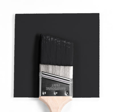 Benjamin Moore Colour HC-190 Black wet, dry colour sample.