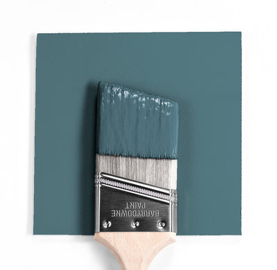 Benjamin Moore Colour HC-191 Hamilton Blue wet, dry colour sample.