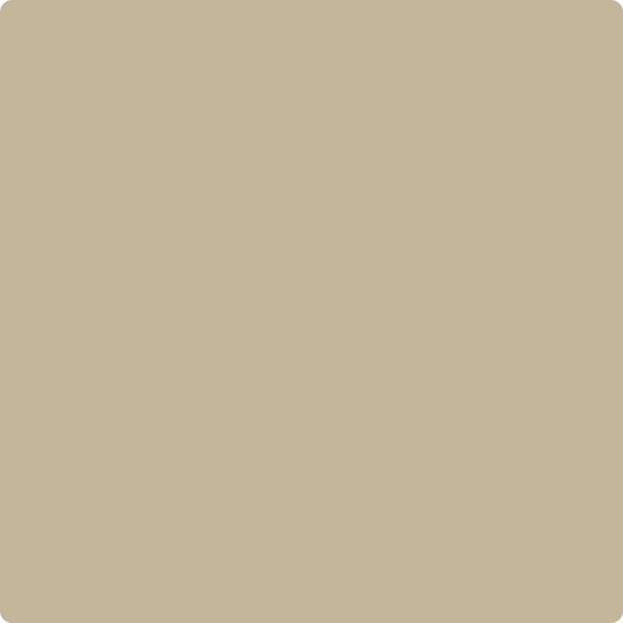 Benjamin Moore Colour HC-82 Bennington Tan wet, dry colour sample.