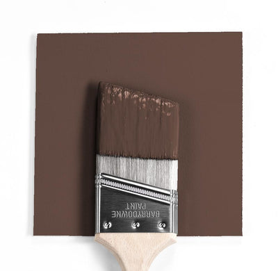 Benjamin Moore Colour HC-71 Hasbrouck Brown wet, dry colour sample.