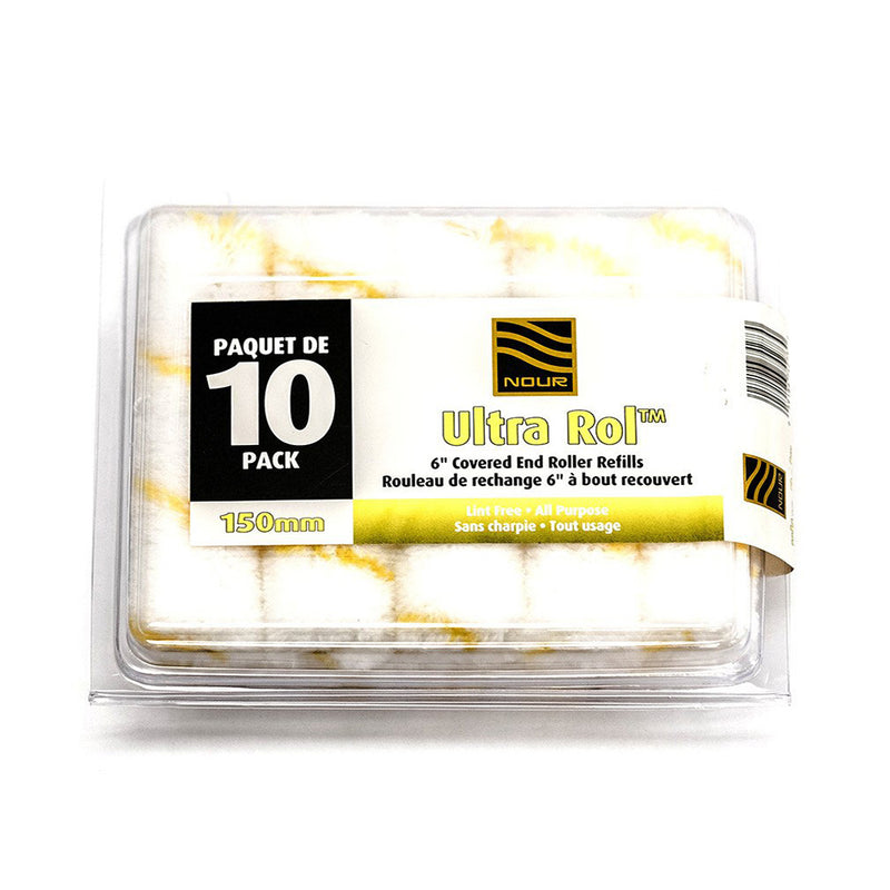 "Nour Ultra Rol™ 6"" Roller Refills - Yellow Stripe (10 pack)"