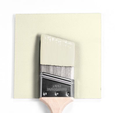 Benjamin Moore Colour OC-114 Lemon Ice wet, dry colour sample.