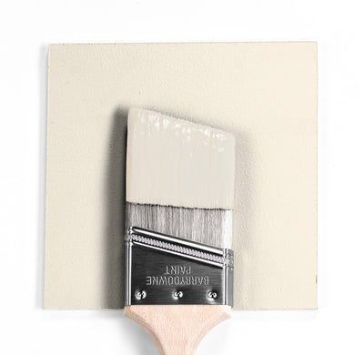 Benjamin Moore Colour OC-86 White Brush wet, dry colour sample.