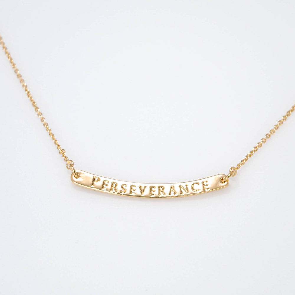 Curved Bar Necklace Perseverance