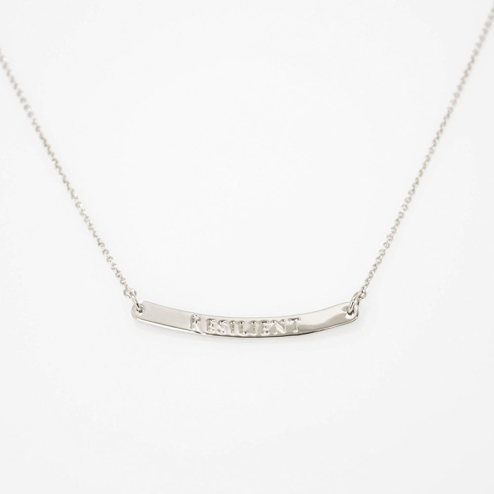 Curved Bar Necklace Resilient