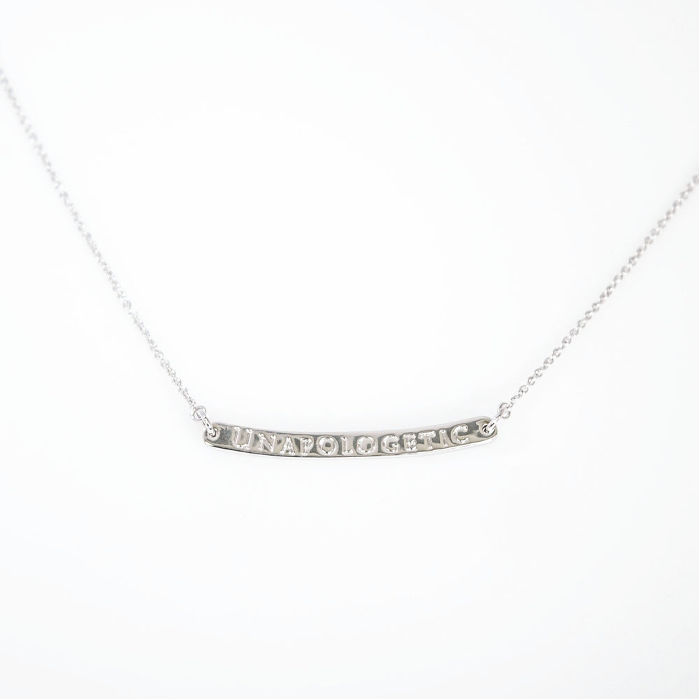 Curved Bar Necklace Unapologetic