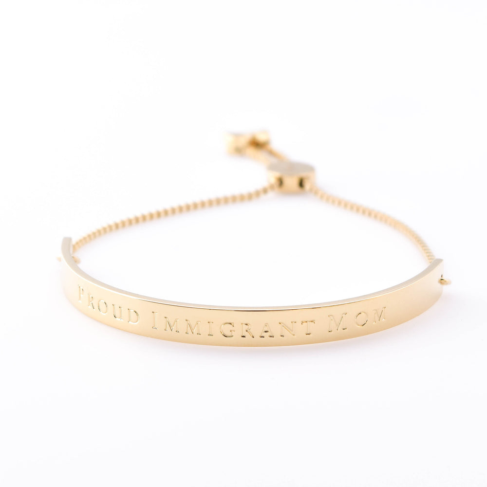 Horizon Bracelet Extended Bar Proud Immigrant Mom