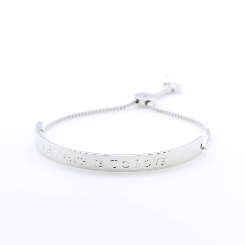 Horizon Bracelet Extended Bar To Teach Is To Love