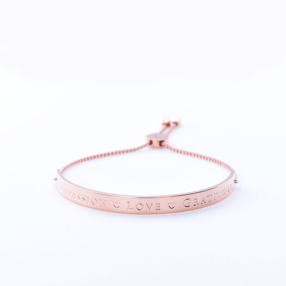 Horizon Bracelet Extended Bar Compassion Love Gratitude
