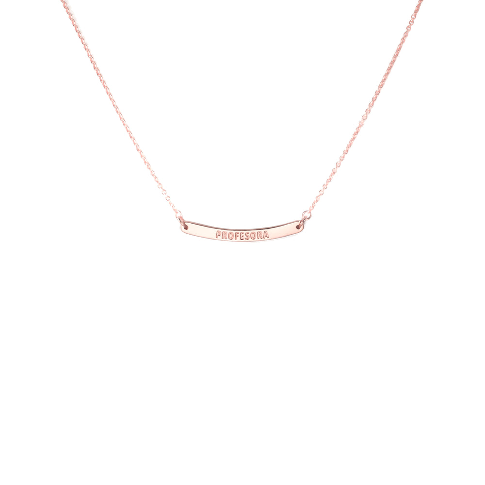 Curved Bar Necklace Profesora