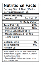 Loam Ridges Heritage Blend Nutrition Label
