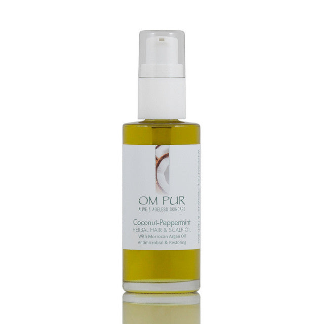 OM PUR Coconut-Peppermint Herbal Hair & Scalp Oil