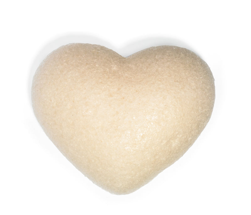One Love Organics Cleansing Sponge Original Heart Shape